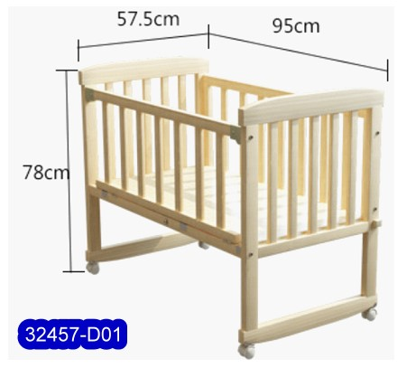 32457-D01 Wooden Baby Bed