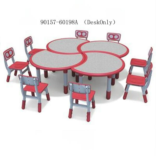 90157-60198A (DeskOnly) combinable crescent table