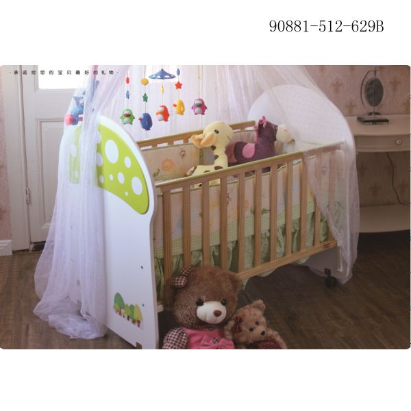 90881-512-629B  Wooden baby bed
